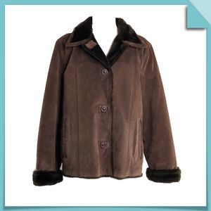 UTEX Design Suede Shearling Jacket Size L